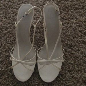 Nine West white heels