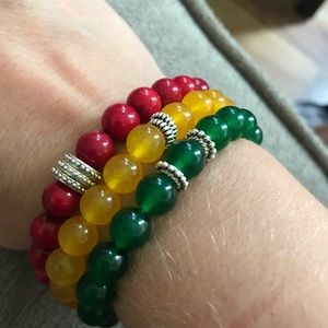 Jewelry - Rasta pride beaded bracelet