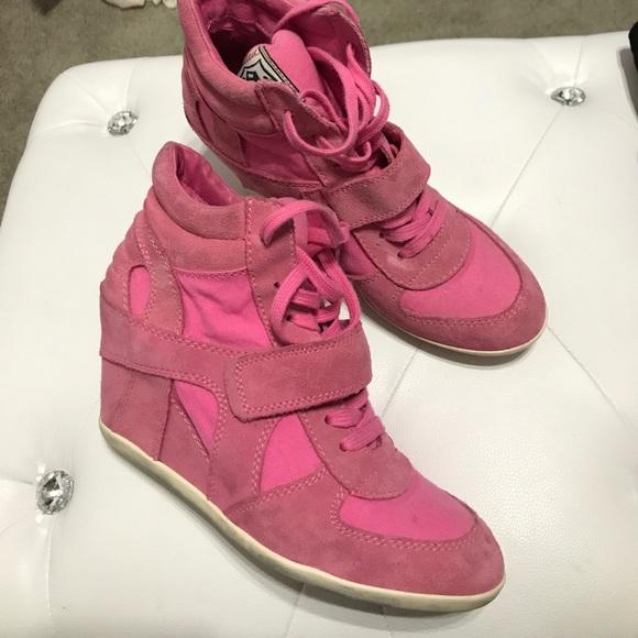 Pink Ash Suede Wedge Sneaker | Poshmark