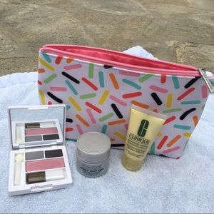 Clinique Handbags - Clinique Cosmetic Makeup Bag Shadow Duo Sprinkle