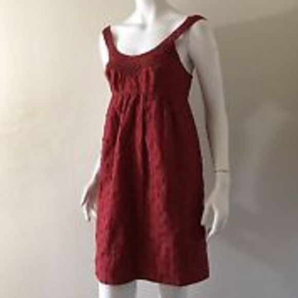 BCBG Dresses & Skirts - BCBG Rust Boho dress with pockets!