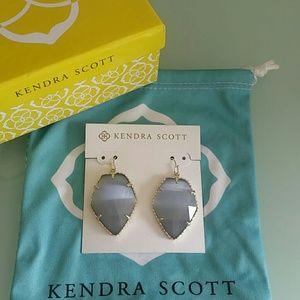 NWT Kendra Scott Slate Cat's Eye Corley earrings