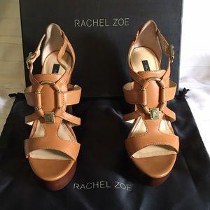 Rachel Zoe Shoes - Rachel Zoe Alexa Classic Camel Chunky Heels NEW