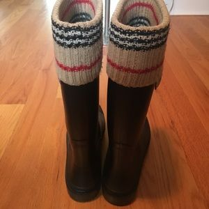 Burberry Shoes - Burberry tall rain boots