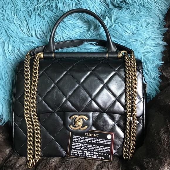 Chanel Gold Bar Top Handle Bag 2016 f9ddf452c9ad2