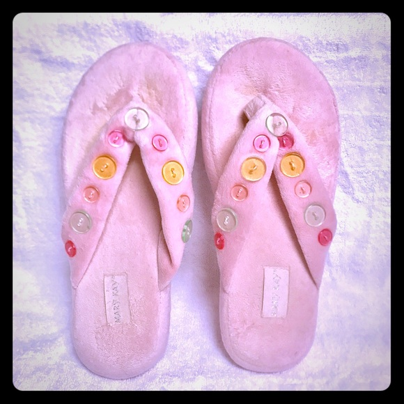 b4b73cb5a31e MK furry button slipper. M 594ed7976d64bc3ad90194b8. Other Shoes ...