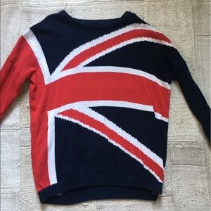 Brandy Melville British Flag Sweater RARE