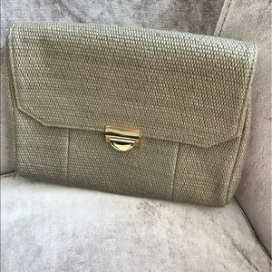 Lauren Merkin Handbags - Lauren Merkin Mini Marlow Raffia Clutch