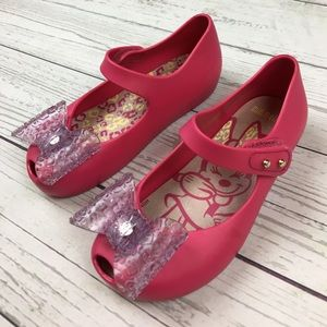Mini Melissa Other - Mini Melissa Pink Bow Shoes Minnie Mouse