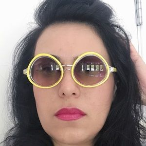 Lily Wang Accessories - Yellow frame sunglasses