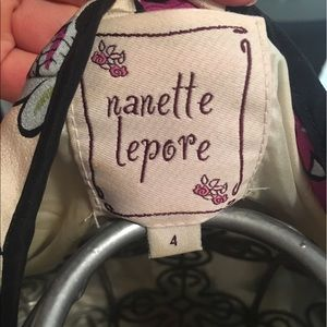Nanette Lepore Jackets & Coats - Nanette Lepore belted short sleeve ruffle top/vest