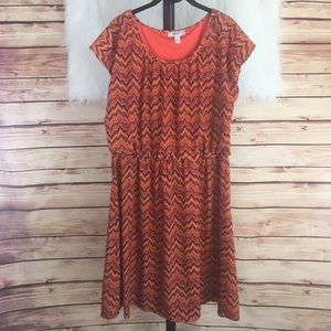 Dress Barn Dresses & Skirts - 👗 Dressbarn orange abstract chevron print dress