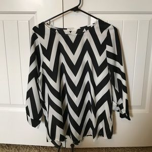 Everly Chevron 3/4 Sleeve Blouse