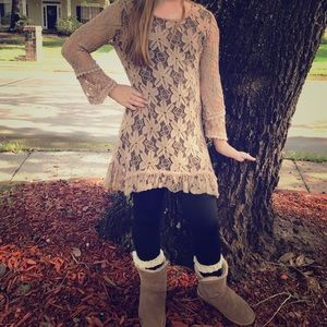 Adore Other - Brown adorable lace shirt
