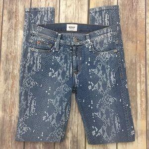 Hudson Jeans Denim - Hudson Printed Nico Midrise Skinny Stretch Jeans