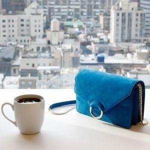 Chloe Handbags - SALE!! Turquoise Suede Blogger Bag