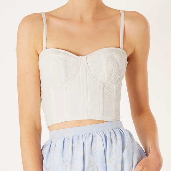 0be16ede614e7 Topshop Structured Corset Top
