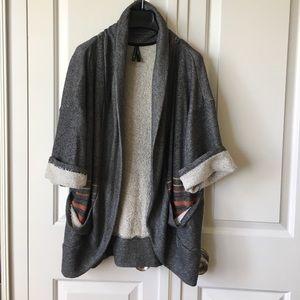 Gentlefawn Sweaters - GENTLEFAWN Oversized Short Sleeved Cardigan