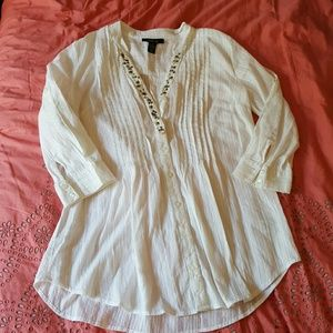 Style & Co Tops - White Tunic Top