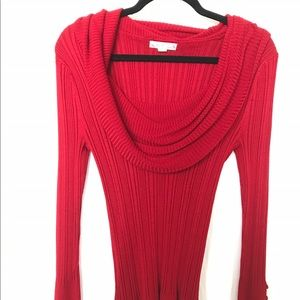 its our time Sweaters - Red Cowl Neck Sweater XLarge