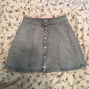 Bullhead Dresses & Skirts - Bullhead Denim A Line Light Blue Mini Skirt