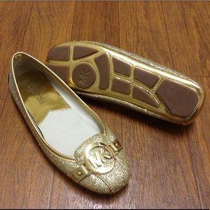 MICHAEL Michael Kors Shoes - MICHAEL Michael Kors Fulton Moc in glitter gold
