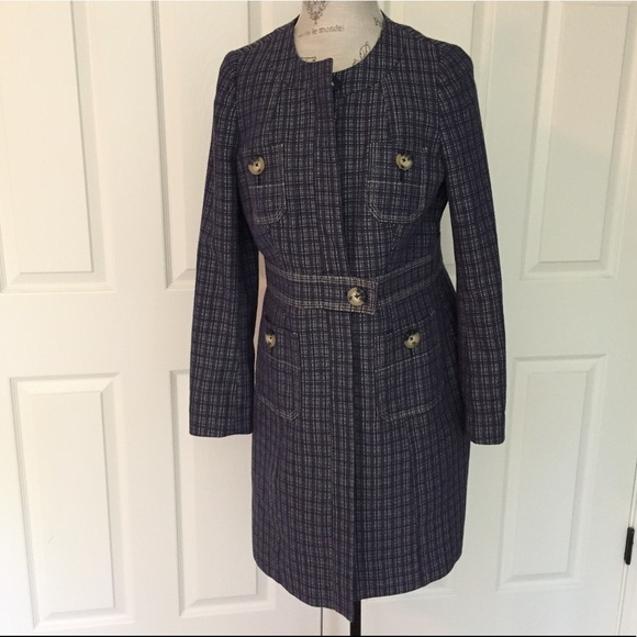 76 off boden jackets blazers boden navy grid print for Boden yellow coat