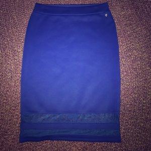 Thalia Sodi Dresses & Skirts - Stretchy pencil skirt with sheer striped bottom