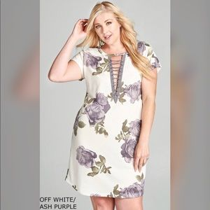 🔥PLUS🔥NEW🔥Floral Print French Terry Dress