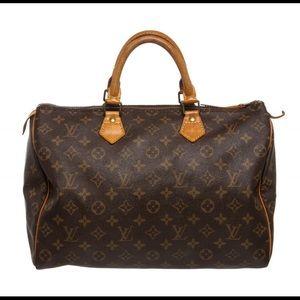 Louis Vuitton Monogram Canvas Leather Speedy 35