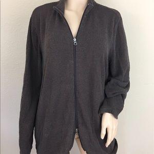 J. Jill Jackets & Blazers - J. Jill silk blend zip up sweater cardigan