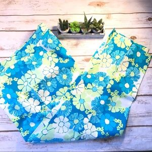 Lilly Pulitzer Pants - Vintage Lilly Pulitzer Blue Floral Print SIZE 10