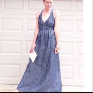 CAbi Dresses & Skirts - Cabi blue linen maxi dress