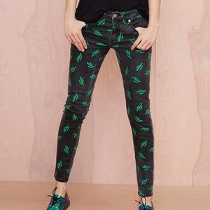 American Retro Denim - American Retro Black Tina Cactus Denim Jeans