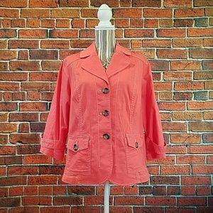 Coldwater Creek coral jacket/blazer