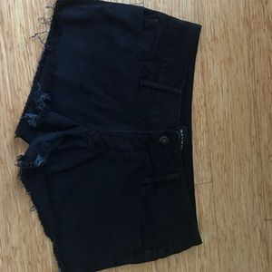 Black Orchid Pants - Black Orchid cut off black denim shorts!