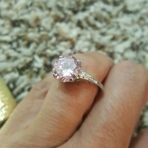 Jewelry - Amazing Pink Topaz Sterling Silver Ring