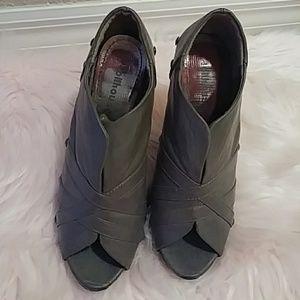 Grey shoe booties