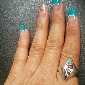 Jewelry - 🆕925 Vintage Sterling silver Aztec ring