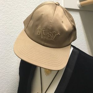 Gold Stussy Hat