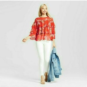 WHO WHAT WEAR Tops - nwt / floral blouse