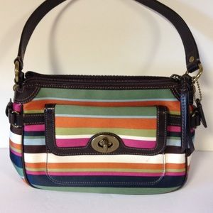 Coach legacy stripe bag purse small