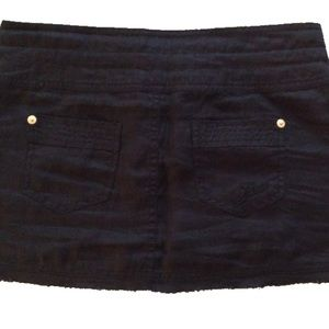 Guess linen mini skirt 24 fringed with drawstring