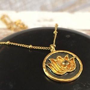 Satya Jewelry Jewelry - NWOT Satya Lotus Necklace white topaz 18k