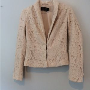 Cream Lace H&M Blazer
