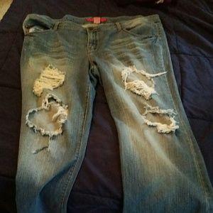 Pure Energy Denim - Plus Size Alert!!!! Ripped Jeans size 22