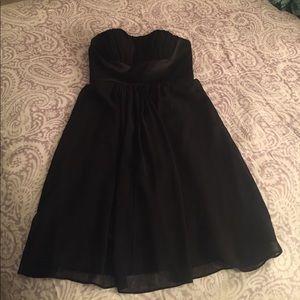 Donna Morgan black strapless dress