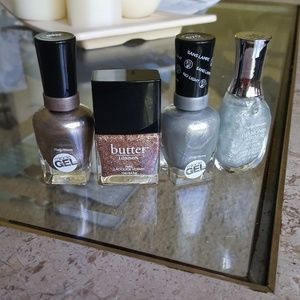 butter london Other - Gold and silver nail polish lot
