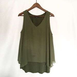 Lord & Taylor Tops - Lord & Taylor Olive Green Tank