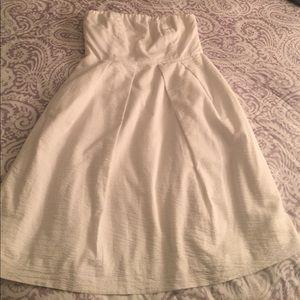 J. Crew white strapless dress
